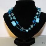 blauwe halsketting