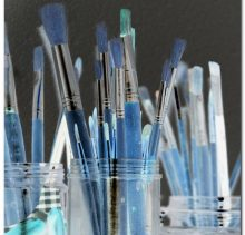 Schilderijen - glasvlinder