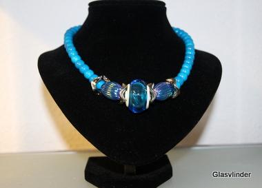 Halsketting blauw