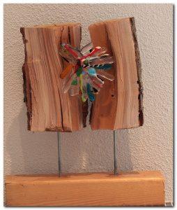 glasvlinder hout en glas