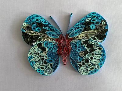 Vlinder Blauw -Papier Quilling